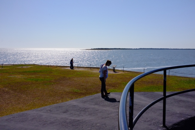 MORRIS ISLAND VIEWED FROM FORT SUMTER (author's photo)